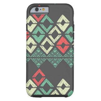 Caja tribal negra del iPhone 6 de Chevron de la Funda Para iPhone 6 Tough