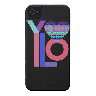 Caja tribal negra linda del iPhone 4/4S de YOLO Case-Mate iPhone 4 Coberturas