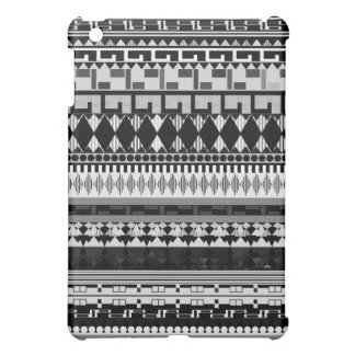 Caja tribal negra y blanca de la mota del iPad