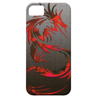 caja tribal roja del teléfono del dragón iPhone 5 carcasas