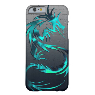caja tribal verde del teléfono del dragón funda para iPhone 6 barely there