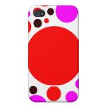 Caja tricolora del polkadot iPhone 4 cárcasa