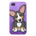 Caja tricolora púrpura del iPhone 4 del Corgi de K iPhone 4 Cobertura