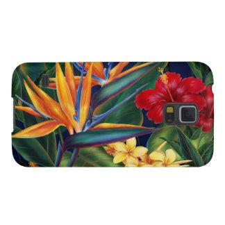 Caja tropical de la galaxia de Samsung del paraíso Funda Galaxy S5