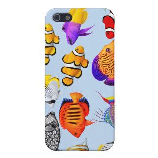 Caja tropical de la mota de los pescados del iPhone 5 carcasa
