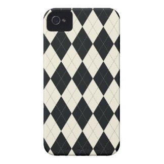 Caja universal blanco y negro del iPhone 4 de Argy iPhone 4 Case-Mate Protectores
