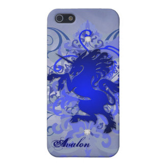 Caja urbana azul del unicornio 5g Iphone de la fan iPhone 5 Carcasas