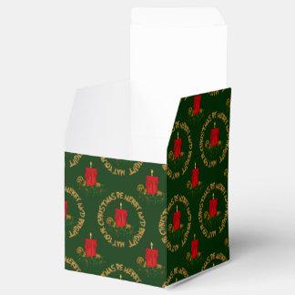 Caja Vela-Sq del favor de Navidad del rojo Cajas Para Regalos De Boda