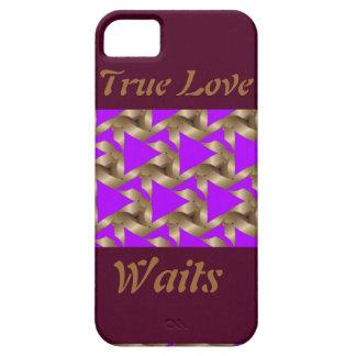 Caja verdadera del teléfono de la espera del amor iPhone 5 fundas