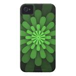 Caja verde abstracta de Blackberry iPhone 4 Cárcasa