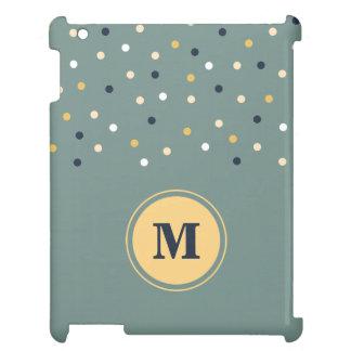 Caja verde/amarilla del monograma de los puntos de