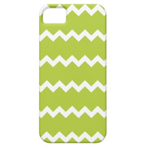 Caja verde chartreuse del iPhone 5 de Chevron iPhone 5 Case-Mate Protector