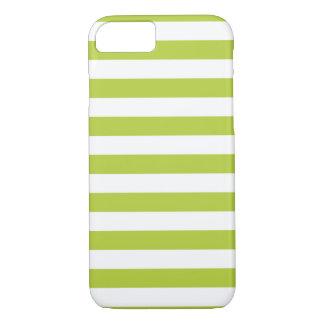 Caja verde chartreuse del iPhone 7 de las rayas Funda iPhone 7