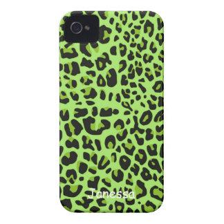 Caja verde de Blackberry del modelo de Jaguar iPhone 4 Case-Mate Coberturas