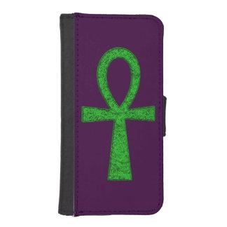 Caja verde de la cartera de Ankh Fundas Tipo Billetera Para iPhone 5