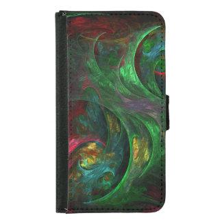 Caja verde de la cartera del arte abstracto de la