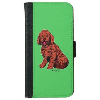 Caja verde de la cartera del teléfono de funda cartera para iPhone 6
