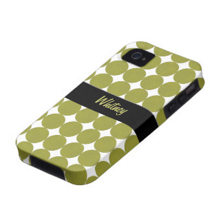 Caja verde de la casamata del iPhone 4 de los punt iPhone 4/4S Fundas