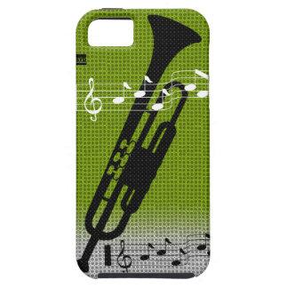 Caja verde de la casamata del iPhone 5 de la músic iPhone 5 Case-Mate Funda