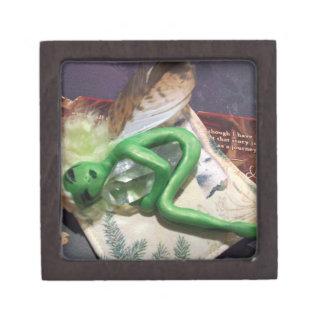 Caja verde de la magia del Faery de abril Cajas De Regalo De Calidad