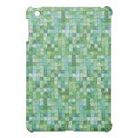 Caja verde de la mota de la teja de mosaico