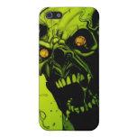 Caja verde de la mota del horror del zombi iPhone 5 fundas