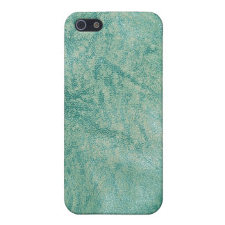 Caja verde de la mota del iPhone de la textura 7 d iPhone 5 Protectores