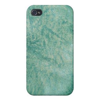 Caja verde de la mota del iPhone de la textura 7 d iPhone 4 Funda