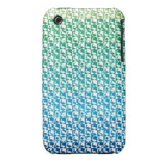 caja verde de la zarzamora del pelicane iPhone 3 Case-Mate carcasa