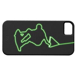 Caja verde de neón del iPhone 5 del Wakeboarder Funda Para iPhone SE/5/5s
