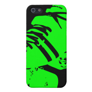 Caja verde de neón negra del iPhone del patín de D iPhone 5 Funda
