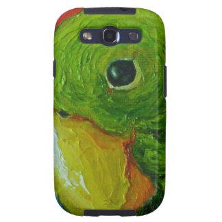 Caja verde de Samsung Galexy del loro Galaxy SIII Cárcasa