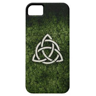 Caja verde de Triquetra Funda Para iPhone 5 Barely There