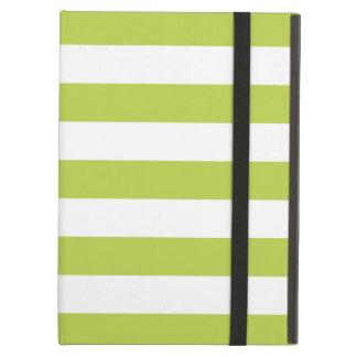 Caja verde del aire del iPad de las rayas