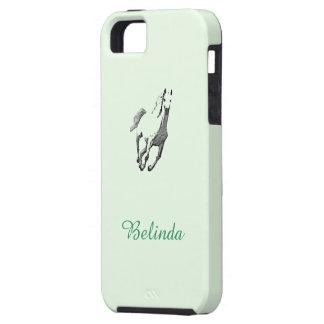 Caja verde del caballo salvaje del iPhone 5 de iPhone 5 Carcasas
