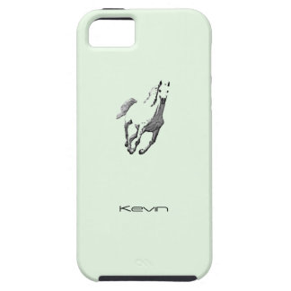 Caja verde del caballo salvaje del iPhone 5 de iPhone 5 Fundas