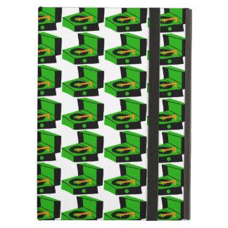 Caja verde del iPad de Houndstooth del tocadiscos