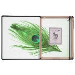 Caja verde del iPad del DODO de la pluma del pavo  iPad Protector
