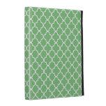 Caja verde del iPad del modelo del trébol de Quatr