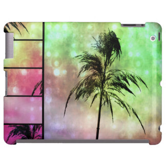 Caja verde del iPad del rosa N de la chispa de la