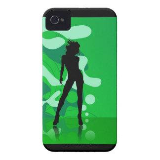 Caja verde del iPhone 4/4S de la silueta iPhone 4 Cárcasa