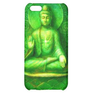 Caja verde del iphone 4 de Buda del zen que brilla