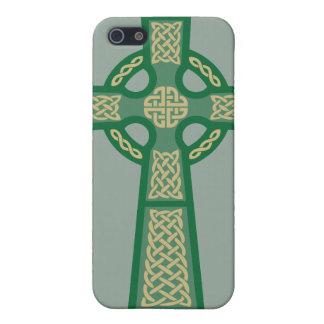 Caja verde del iPhone 4 de la cruz céltica iPhone 5 Fundas