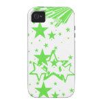caja verde del iphone 4 de la estrella vibe iPhone 4 funda