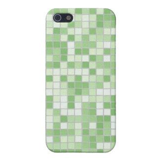 Caja verde del iPhone 4 del mosaico iPhone 5 Funda