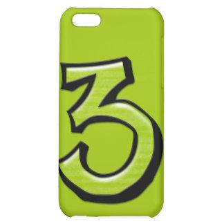 Caja verde del iPhone 4 del número 3 tontos