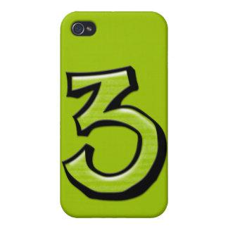 Caja verde del iPhone 4 del número 3 tontos iPhone 4 Carcasa