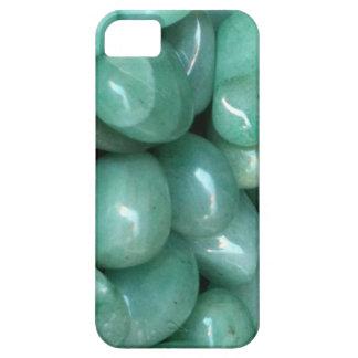 Caja verde del iPhone 5 de Aventurine Tumblestones iPhone 5 Funda