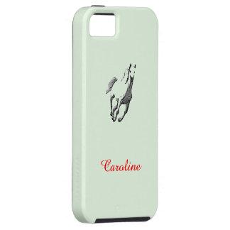 Caja verde del iPhone 5 de Caroline con el caballo iPhone 5 Fundas