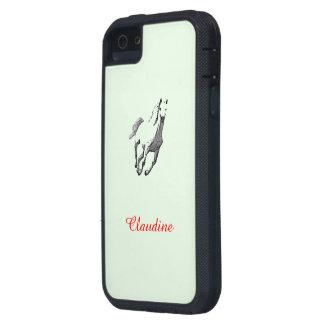 Caja verde del iPhone 5 de Claudina con el caballo iPhone 5 Fundas